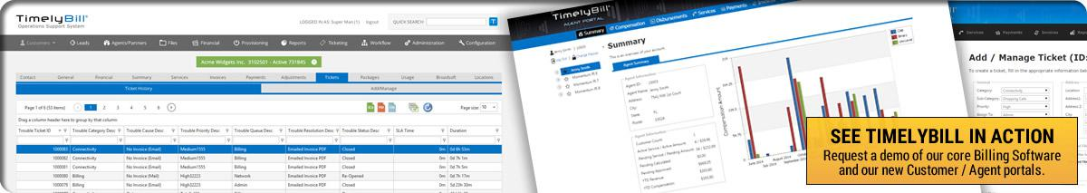 TimelyBill software user interface screen